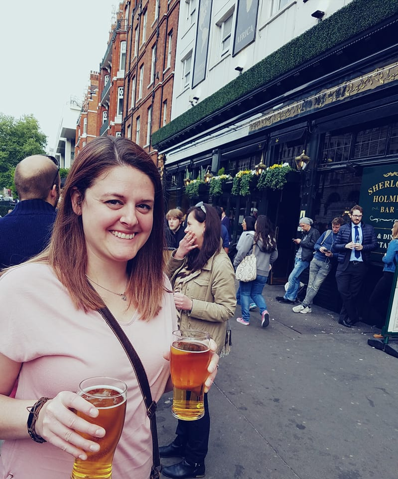 pints of beer at happy hour in London