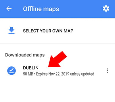Offline Maps Step 5