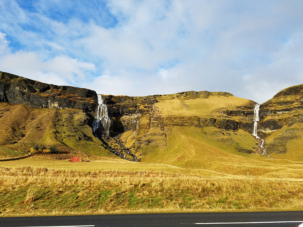 Driving around Iceland during our road trip