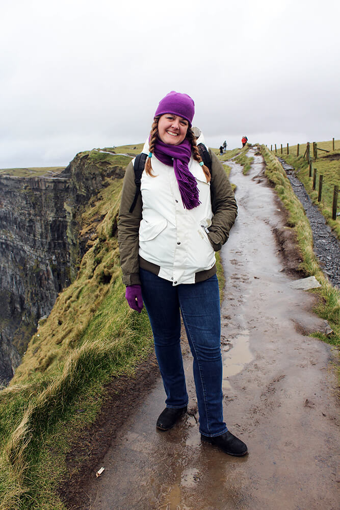 Barbara at The Cliffs of Moher