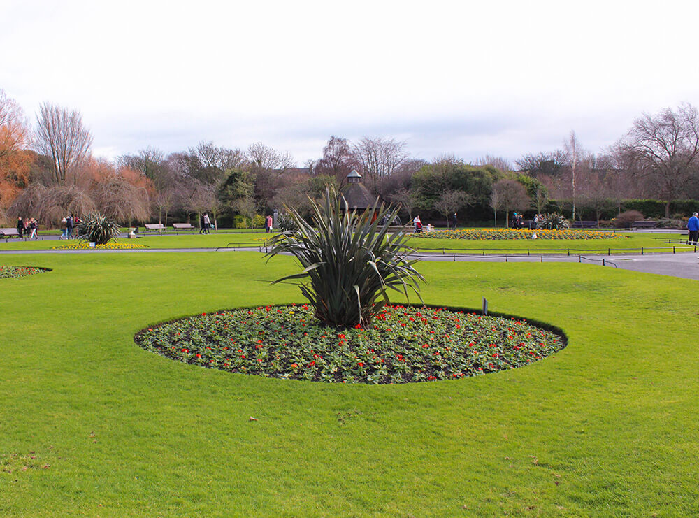 Gardens Merrion Square in Dublin
