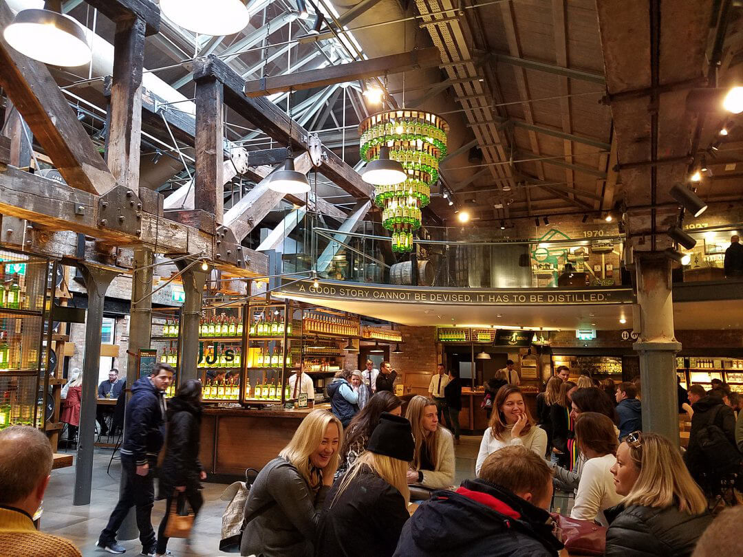 Inside the Jameson Distillery in Dublin, Ireland