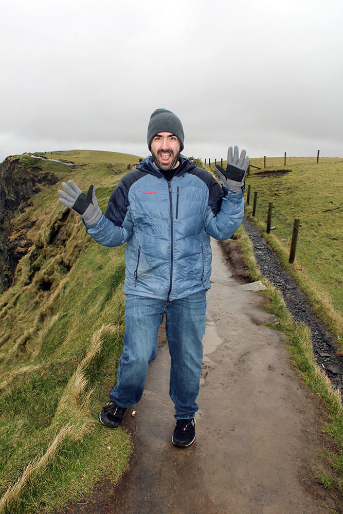 Mark at The Cliffs of Moher