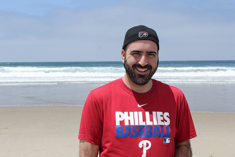 Mark at the beach in San Diego
