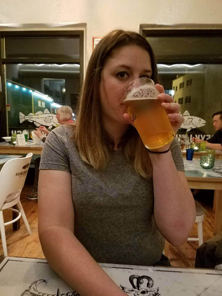 Drinking Viking beer in Iceland