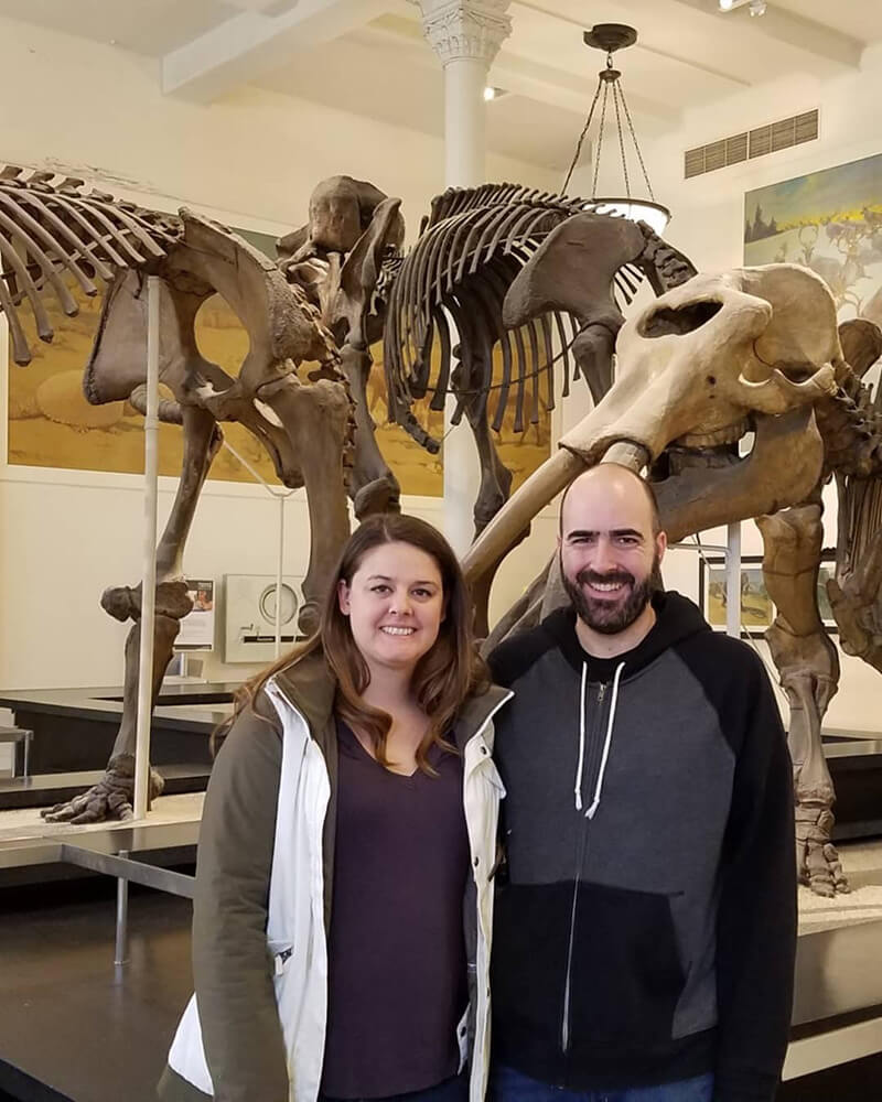 Mark and Barbara at the Natural History Museum