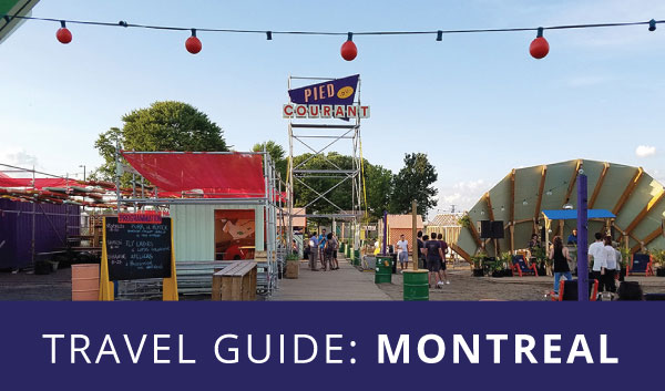 Montreal travel guide infographic