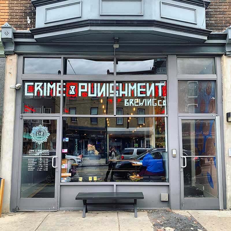 Crime and Punishment Brewing Co. in Brewerytown Philadelphia