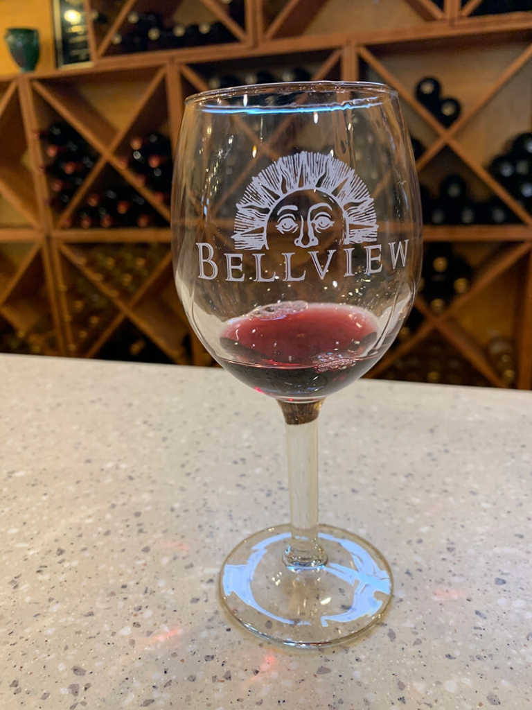 Bellview glass of wine