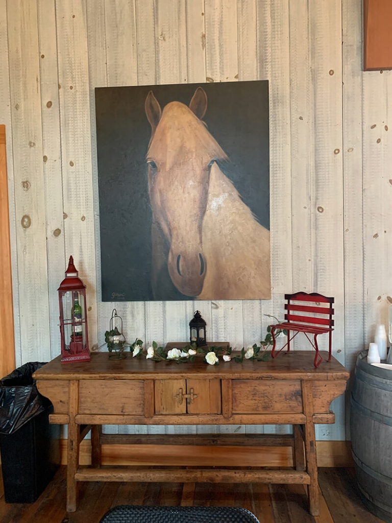 Inside White Horse Winery