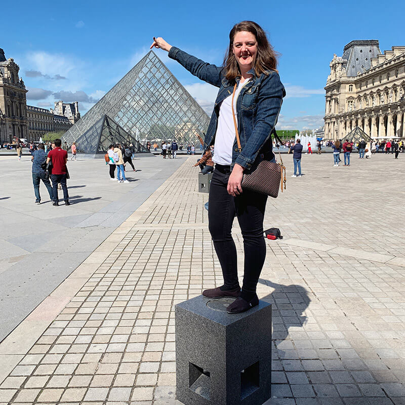 Being a tourist at The Louvre