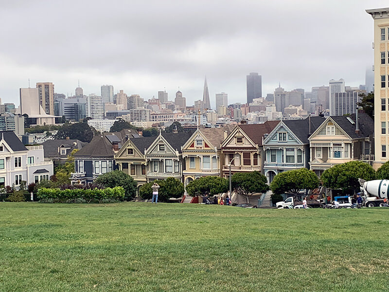 Painted Lady Houses in San Francisco