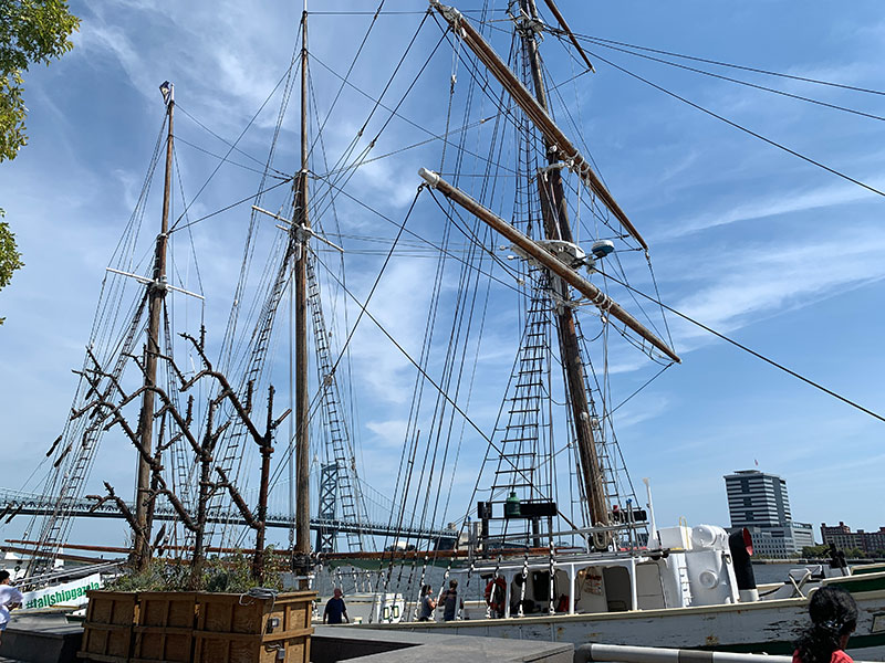 Tall ships at Penn's Landing in Philadelphia
