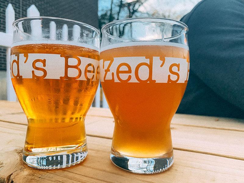 Zed's glasses of beer