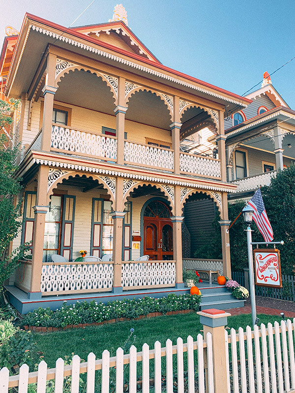 Cape May Victorian style homes
