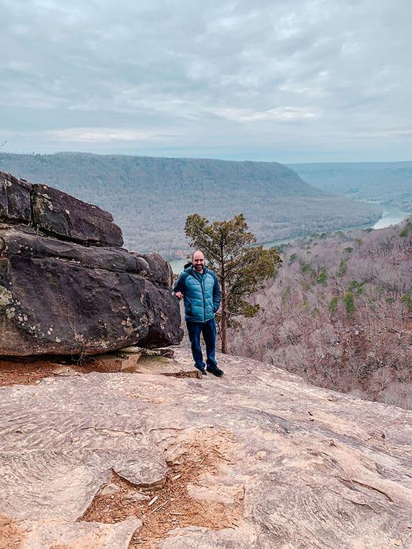 mark at Julia Falls overlook