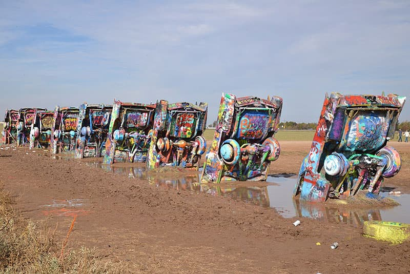 Cadillac Ranch, located on Route 66 in Amarillo, TX