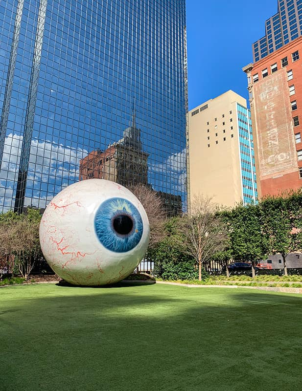 Giant Eyeball - Located in Downtown Dallas, Texas