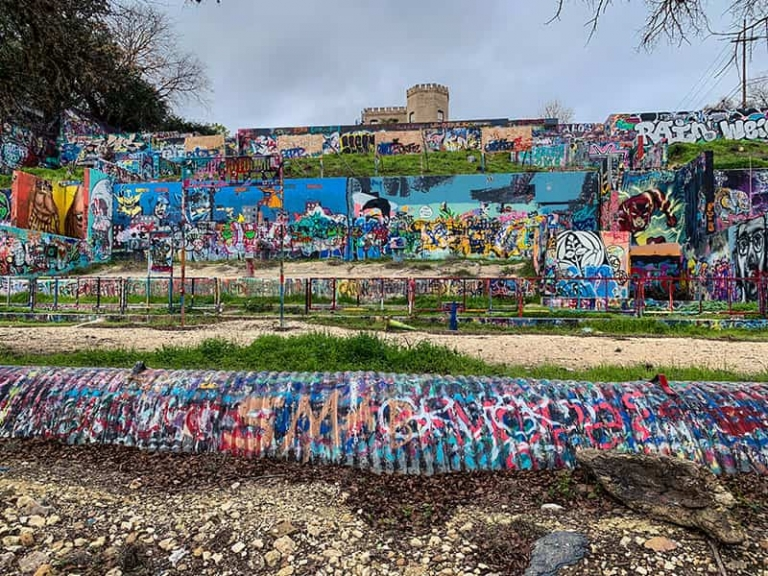 Graffiti Park Located in Austin, Texas