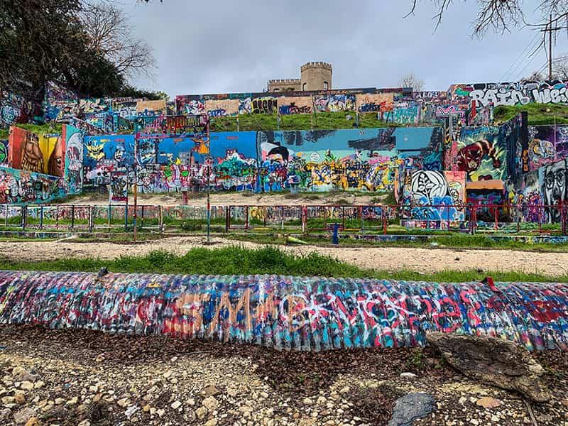 Graffiti Park Located in Austin, Texas