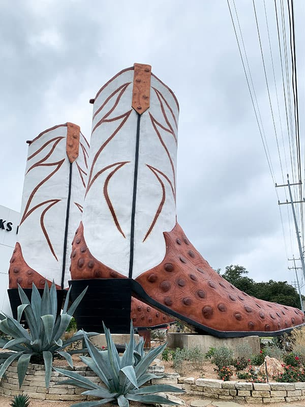 World's Largest Cowboy Boots, Located in San Antonio, TX
