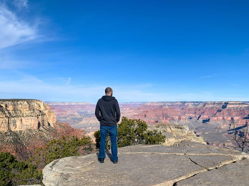 Mark at the Grand Canyon