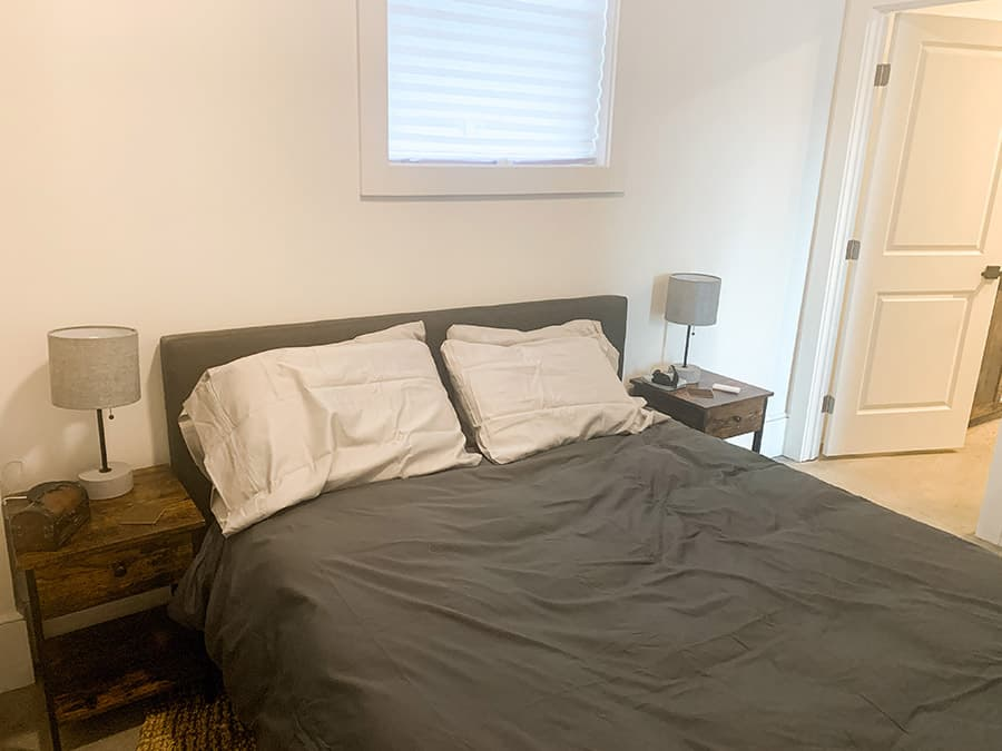 Bedroom of unique Winchester, Virginia Airbnb