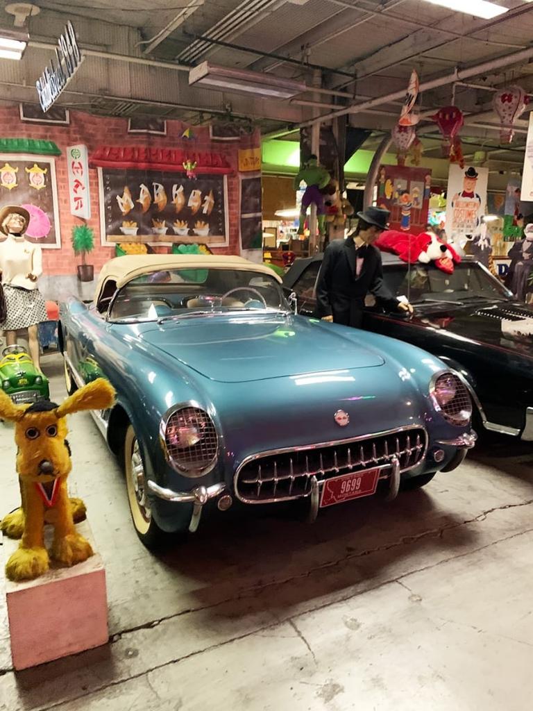 vintage cars inside the American Treasure Tour