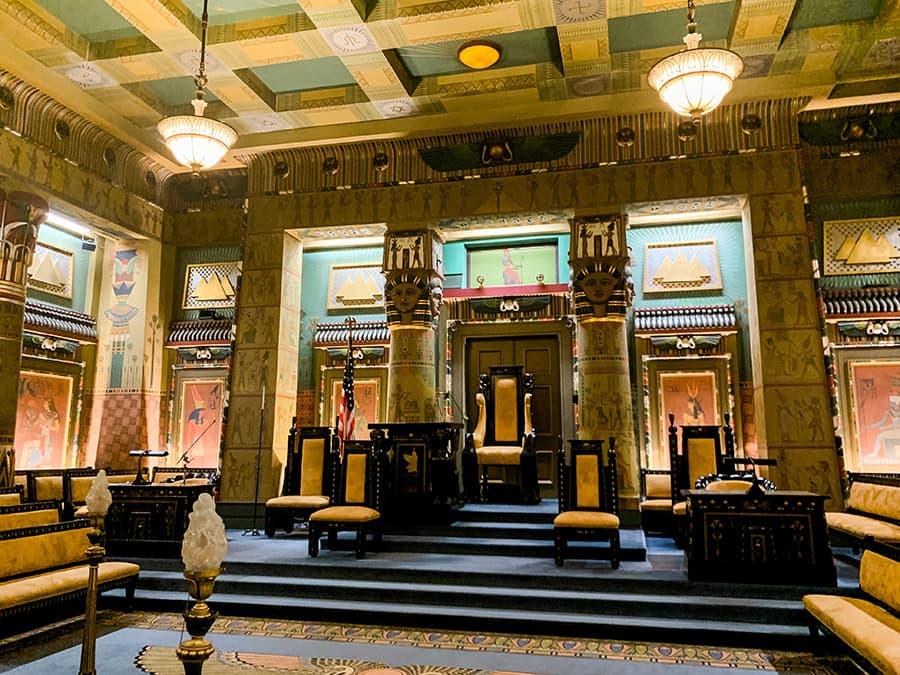 Egyptian Hall inside the Masonic Temple in Philadelphia