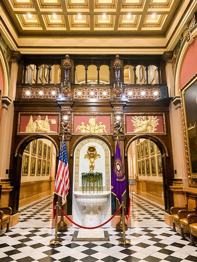 grand foyer of the Masonic Temple in Philadelphia