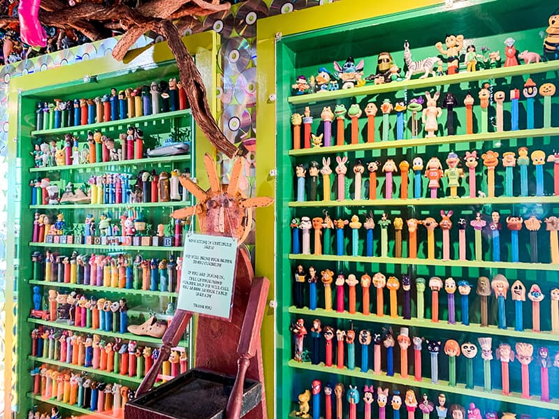 pez dispenser display at the PaperMoon Diner in Baltmore