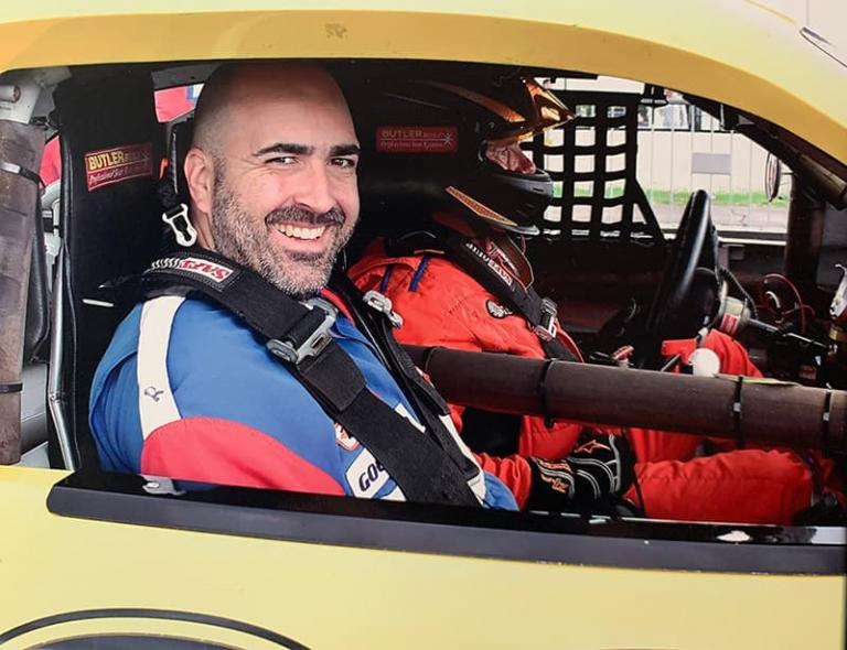 Mark is a NASCAR at the Pocono Raceway
