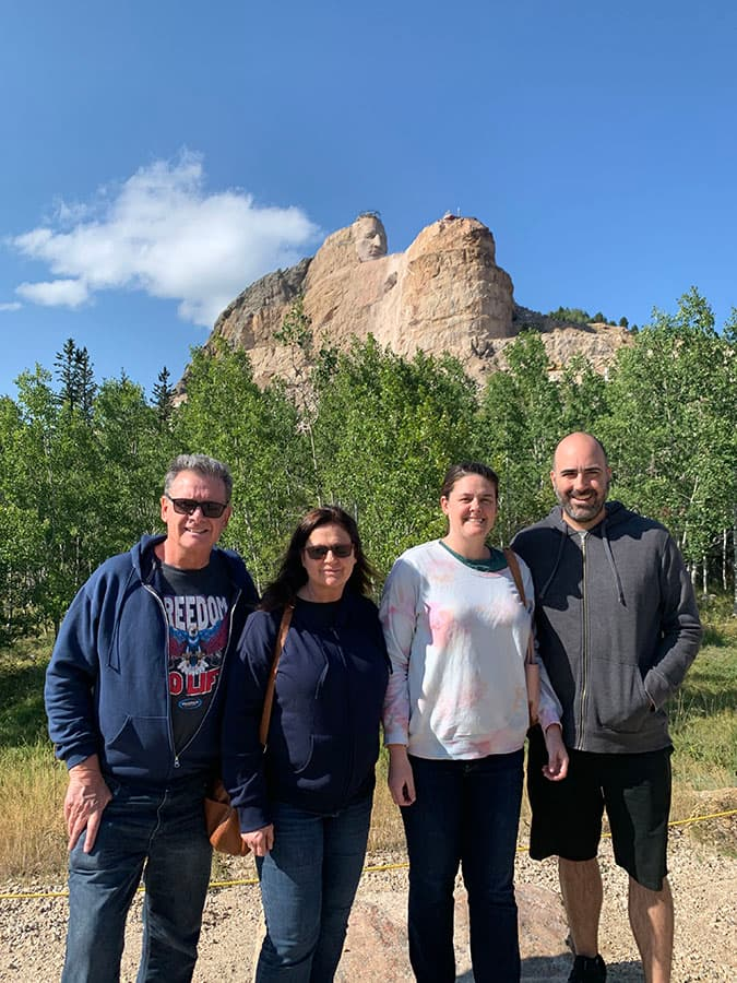 family at crazy horse
