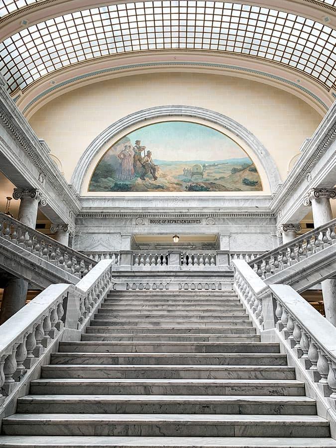Utah state capitol Salt Lake City