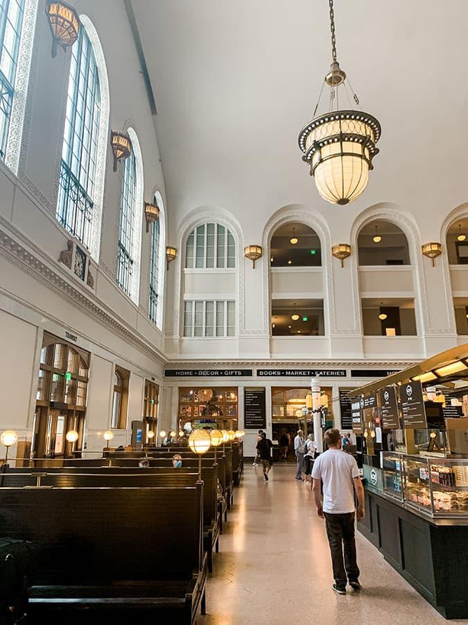 inside Union Station in Denver